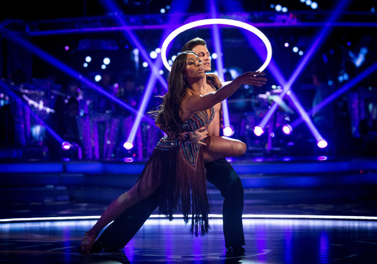 WARNING: Embargoed for publication until 20:10:01 on 25/11/2017 - Programme Name: Strictly Come Dancing 2017 - TX: 25/11/2017 - Episode: Strictly Come Dancing 2017 - TX10 LIVE SHOW (No. n/a) - Picture Shows: +DRESS RUN+ *STRICTLY NOT FOR PUBLICATION UNTIL 20:10HRS, SATURDAY 25TH NOVEMBER, 2017* Alexandra Burke, Gorka Marquez - (C) BBC - Photographer: Guy Levy